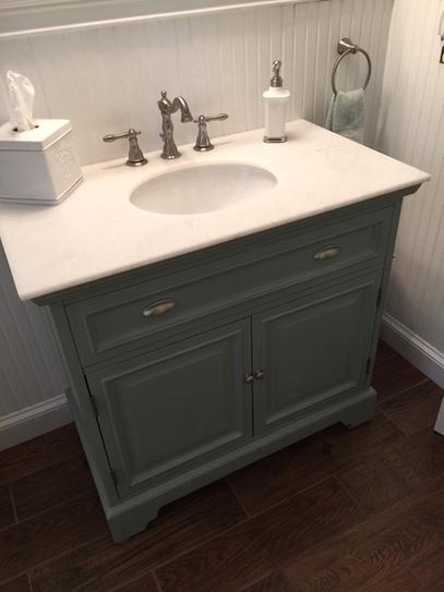 Home Decorators Collection Sadie 38 in. W Bath Vanity in Antique Light Cyan  with Natural Marble Vanity Top in White 1666500350 at The Home Depot -  Mobile - Home Decorators Collection Sadie 38 In. W Bath Vanity In Antique