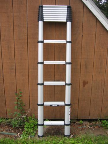 Telescopic Access 12 5 Ft Aluminum Telescopic Ladder With 300 Lb