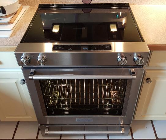 KitchenAid 30 In. 6.4 Cu. Ft. Slide In Electric Range With Self Cleaning  Convection Oven In Black KSEG700EBL At The Home Depot   Mobile