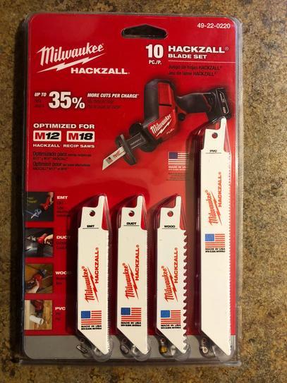 Milwaukee 49-22-0220 General Purpose Hackzall Blade Set 10-Piece