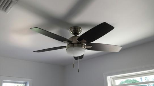 Hunter antero 46 in indoor fresh white ceiling fan with light 59179 at the home depot mobile