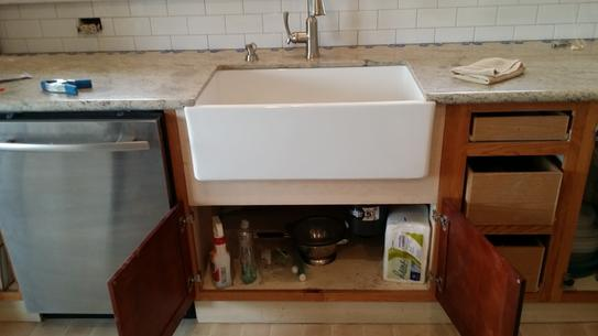 Pegasus Farmhouse Apron Front Fireclay 30 In. Single Bowl Kitchen Sink In  White FS30 At The Home Depot   Mobile