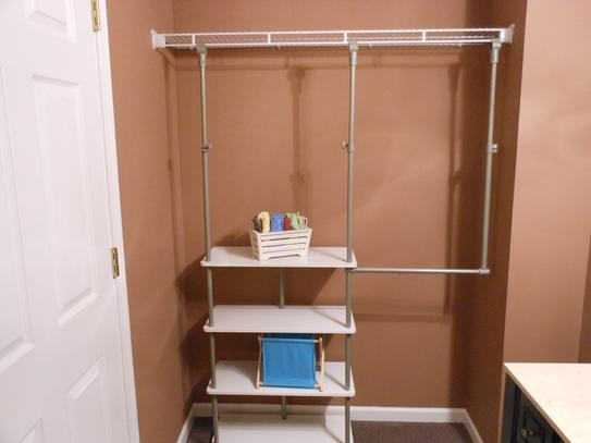 ClosetMaid 4 Ft.   8 Ft. Laminate Closet Maximizer In Chocolate 55301 At  The Home Depot   Mobile