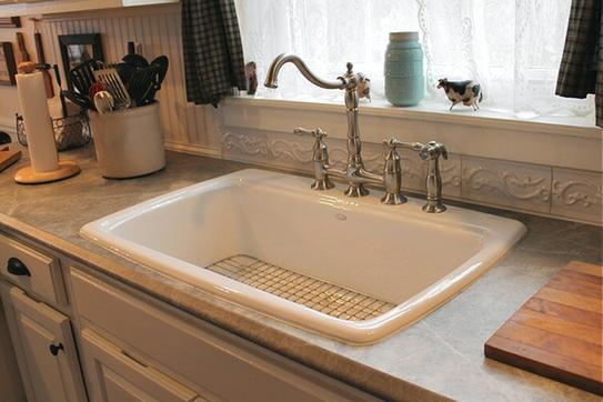 Elegant KOHLER Cape Dory Drop In Cast Iron 33 In. 4 Hole Single Bowl Kitchen Sink  In White K RH5863 4 0 At The Home Depot   Mobile
