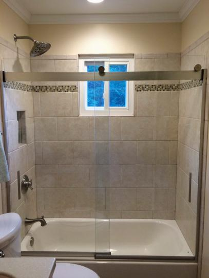 KOHLER Levity 60 In. X 62 In. Semi Frameless Sliding Tub Door In Silver  With Handle K 706000 L SH At The Home Depot   Mobile