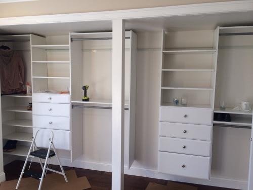 Charming Martha Stewart Living 4 Ft.   8 Ft. Classic White Deluxe Starter Closet Kit  W1 At The Home Depot   Mobile