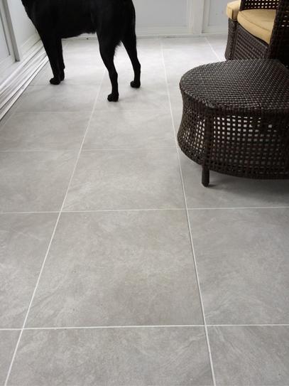 Porcelain Tiles Home Depot: TrafficMASTER Portland Stone Beige 18 In. X 18 In. Glazed
