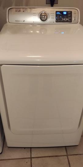 Samsung 7 4 cu  ft  Electric Dryer in White DV45H7000EW at