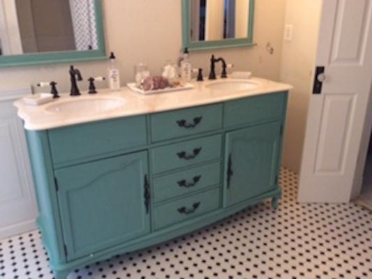 Gentil Home Decorators Collection Provence 62 In. W X 22 In. D Double Bath Vanity  In Blue With Natural Marble Vanity Top In White 1112700310 At The Home  Depot   ...