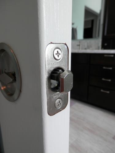 Kwikset Round Satin Nickel Bed/Bath Pocket Door Lock 335 15 RND PCKT DR LCK  At The Home Depot   Mobile