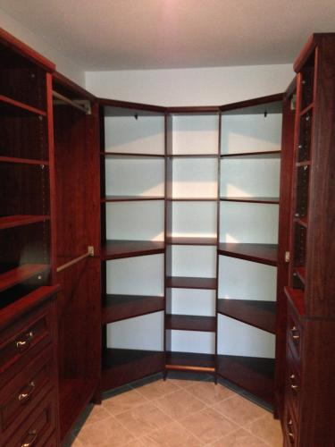 Attirant ClosetMaid Impressions 28.7 In. X 28.7 In. X 41.1 In. Chocolate Wood Corner  Unit 30811 At The Home Depot   Mobile