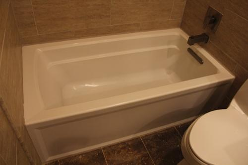 KOHLER Archer 5 ft. Acrylic Left Hand Drain Farmhouse Rectangular ...