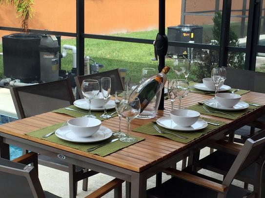 Hampton Bay Barnsdale Teak 7 Piece Patio Dining Set Set T1840 C2011