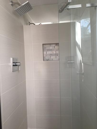 Kohler Underline 36 In X 69 1 2 In Frameless Pivot Shower Door In Matte Nickel With Handle K 709033 L Mx At The Home Depot Mobile