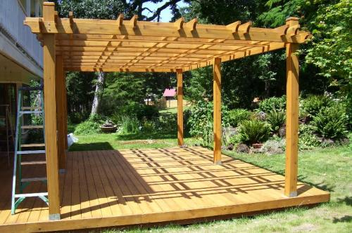 Outdoor Living Today Breeze 12 ft. x 20 ft. Cedar Pergola BZ1220 at The Home  Depot - Mobile - Outdoor Living Today Breeze 12 Ft. X 20 Ft. Cedar Pergola BZ1220 At