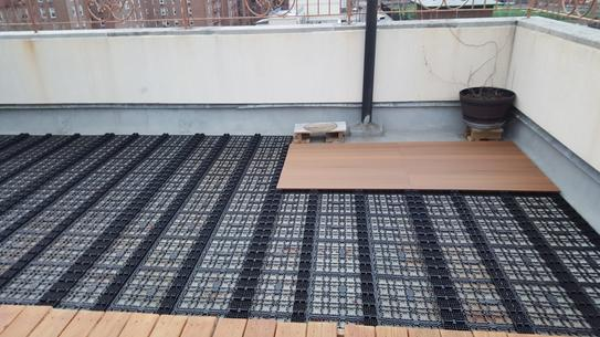 Deck A Floor Premium Modular Composite Outdoor Flooring System Kit In Peruvian Teak Daf 4 Tk At The Home Depot Mobile