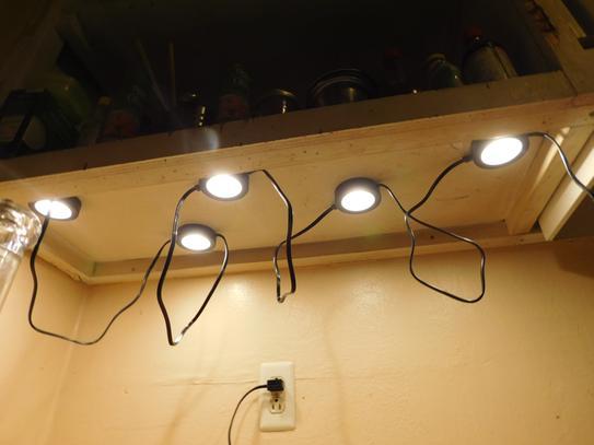Commercial Electric 5 Light Led Black Ac Puck Kit 21325kit Bk At The Home Depot Mobile