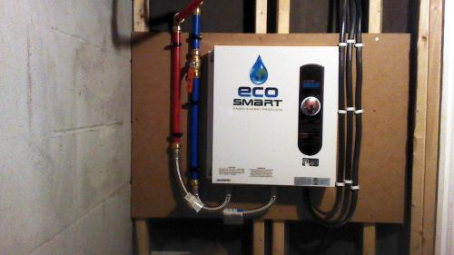 ecosmart 27 kw self-modulating 5.3 gpm electric tankless water