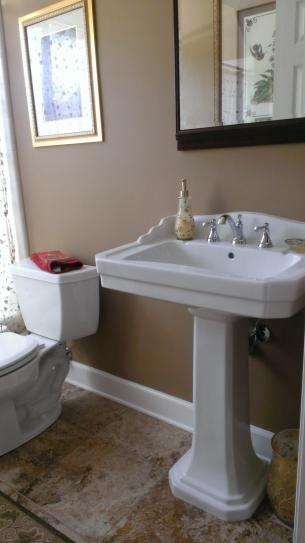 Foremost Series 1930 Lavatory And Pedestal Combo In Biscuit FL 1930 8BI At  The Home Depot   Mobile