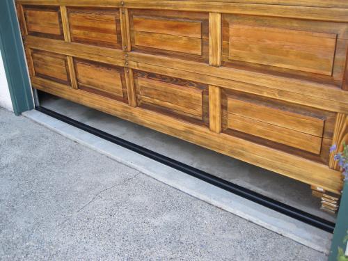garage seal about wide door threshold