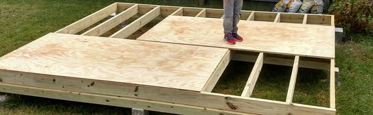 10x12 Building foundation.
