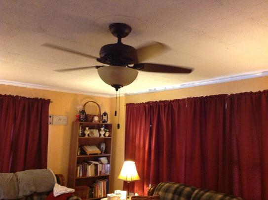 Hunter stratford 44 in indoor new bronze ceiling fan with light customer images 5 hunter ceiling fans aloadofball Image collections