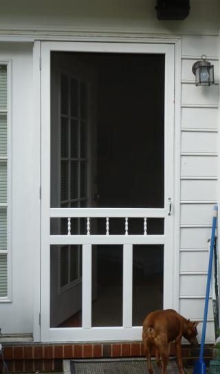 Screen Tight 36 In. X 80 In. Waccamaw Solid Vinyl White Screen Door With  Hardware WAC36HD At The Home Depot   Mobile