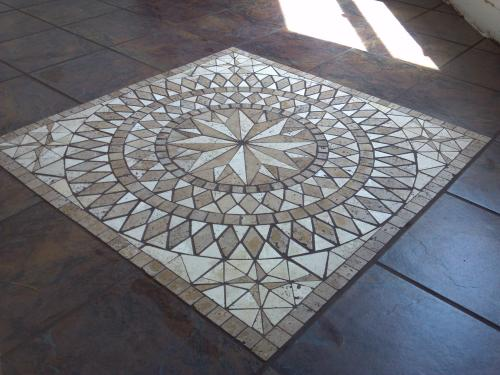 ms del sol medallion 36 in x 36 in travertine floor and wall the home depot