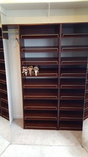 Merveilleux ClosetMaid Impressions 3 Shelf Chocolate Shoe Organizer 30901 At The Home  Depot   Mobile