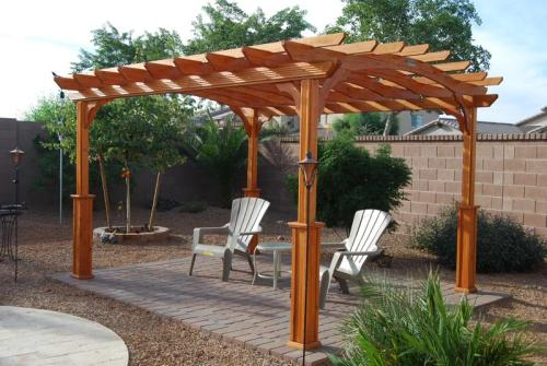 Wood Pergola PA1012 at The Home Depot - Mobile - 10 Ft. X 12 Ft. Wood Pergola PA1012 At The Home Depot - Mobile
