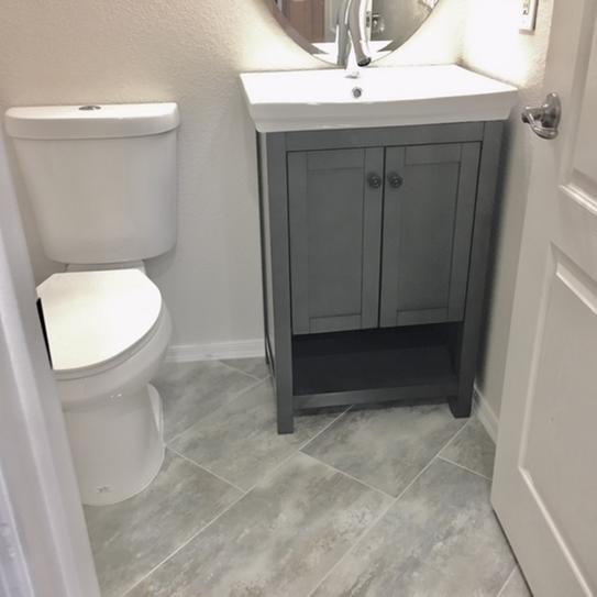 Home Decorators Collection Hanley In W X In D Bath - Charcoal gray bathroom vanity