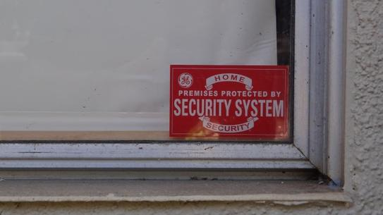 GE Security Window Decals Pack The Home Depot - Office depot window decals instructions