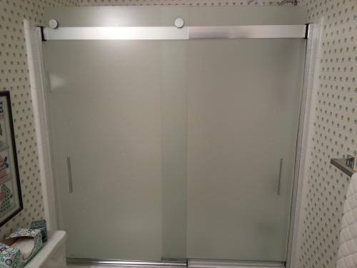 Kohler Levity 59 In X 62 Semi Frameless Sliding Tub Door Nickel With Handle K 706000 D3 Mx At The Home Depot Mobile