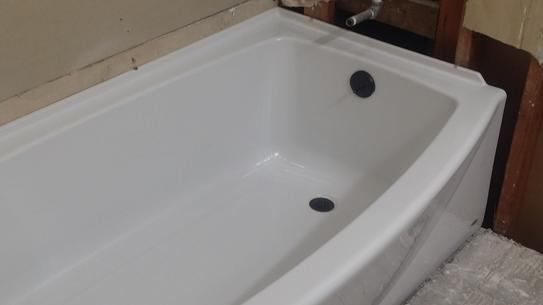 and tub apron saver evolution size bathtubs lowes bathtub with ii american standard in shown surround integral white