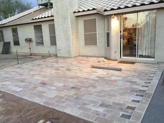My patio 90% done.