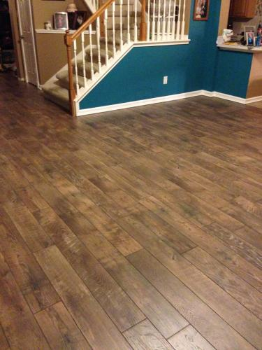 Hampton Bay Country Oak Dusk 12 Mm Thick X 6 316 In Wide X 50 12