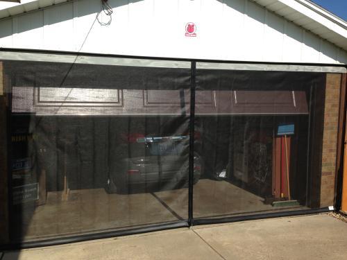 fresh air screens 8 ft x 7 ft 1 zipper garage door screen 1231 b 87 the home depot - Screen For Garage Door