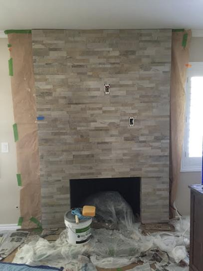 Ledger Panel Fireplace