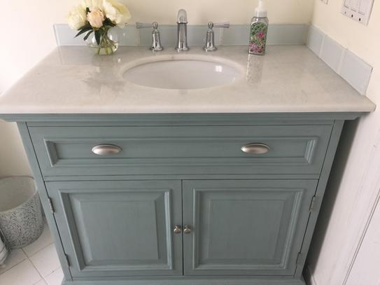 home decorators collection sadie 38 in w bath vanity in antique light cyan with natural marble vanity top in white 1666500350 at the home depot mobile