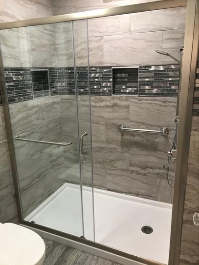 Dreamline shower door and pan