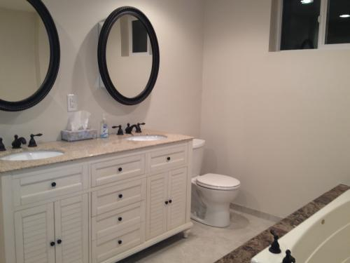 Home decorators collection hamilton 61 in w x 22 in d double bath vanity in grey with granite vanity top in grey with white basin 10806 vs61h gr at the