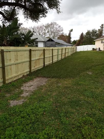 Rebuilt fencing from Hurricane Irma using NuMax 21 pneumatic framing Nailer