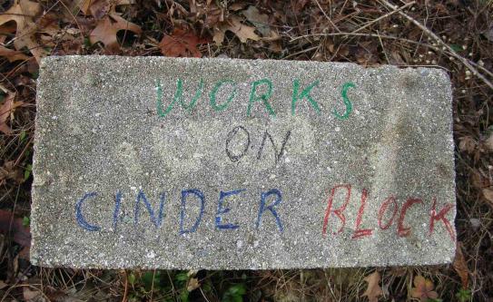 Marking Cinder Block
