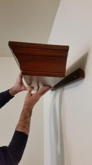 Putting shelf into place