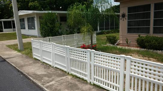 Resin Garden Fence Gvf3232 At The Home Depot Mobile