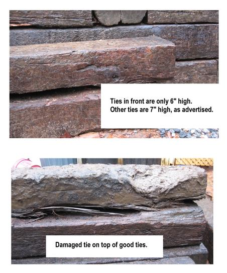 8ffd22717392 Used Railroad Tie-Cresote Treated (Common: 7 in. x 9 in. x 8 ft ...