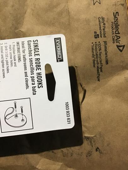 Reviews For Everbilt Matte Black Light Duty Single Robe Hook 5 Pack 20786 The Home Depot