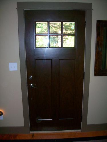 Bon Feather River Doors 37.5 In. X 81.625 In. 6 Lite Craftsman Stained Chestnut  Mahogany Left Hand Inswing Fiberglass Prehung Front Door FF3790 At The Home  ...