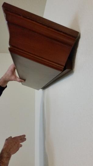 Hooking shelf on cleat