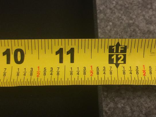 """Griddle measures 11 11/16"""" wide."""